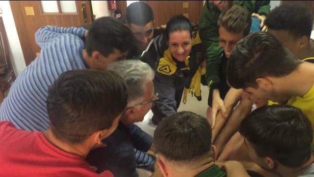 LA CASA AMARILLA - Celebración de la permanencia de Las Palmas Atlético
