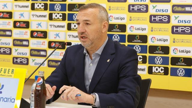 Miguel Ángel Ramírez en la rueda de prensa de final de temporada