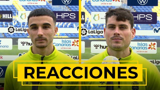REACCIONES   Declaraciones de Rober y Sergio Ruiz tras el UD Las Palmas - Espanyol