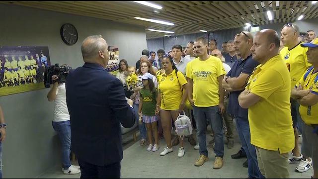 La base y las peñas conocen la Ciudad Deportiva UD Las Palmas