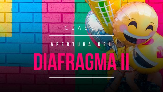 Abrir el diafragma 2